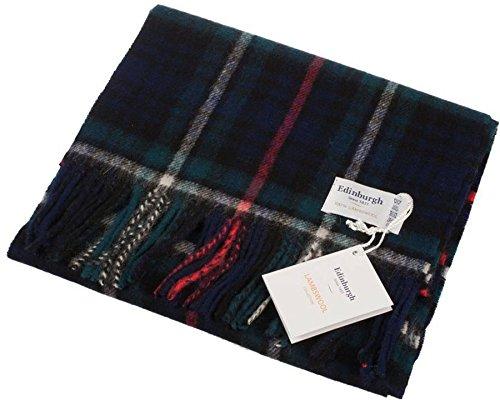 I Luv Ltd Unisex Lambswool Scarf In Mackenzie Tartan Design 30cm Wide