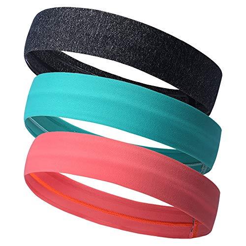 Stirnbänder Schweißband & Sport Stirnband für Laufen, Cross-Training, Racquetball, Workout - Performance Stretch & Moisture Wicking