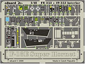 Eduard Accessories fe35330502000F de 18E Super Hornet Interior para Hasegawa Montar.