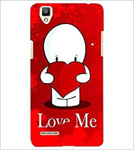PrintDhaba Love Quote D-2794 Back Case Cover for OPPO F1 (Multi-Coloured)
