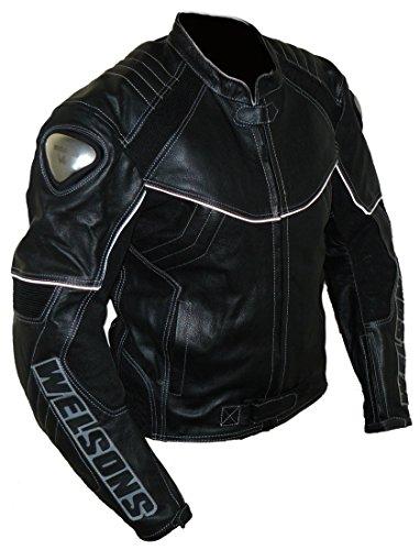 Protectwear WMB-303 Motorrad - Lederjacke,Größe : 60, schwarz - 3