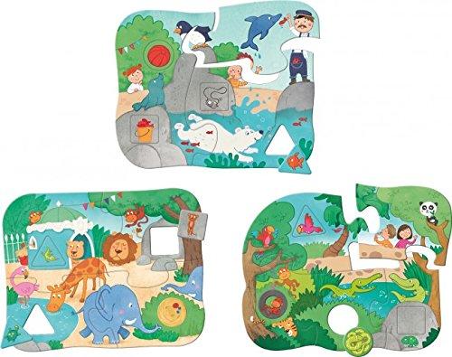 3 erste Mix-Max-Puzzles - Im Zoo (Kinderpuzzle)
