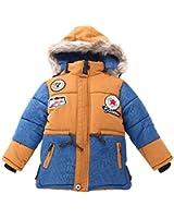 Kinder Jungen Jacket Gefütterte Gesteppte Winterjacke Outdoorjacke Mantel mit Kapuze