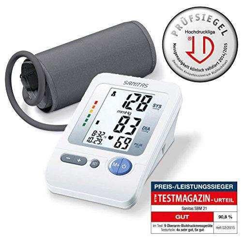 Sanitas SBM 21 Oberarm-Blutdruckmessgerät, vollautomatische Blutdruck- und Pulsmessung am Oberarm mit Arrhythmie-Erkennung - 3
