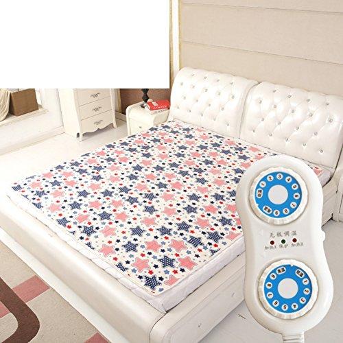 Wärmeunterbett,Heizdecke Doppelten kontrolle Erhöhung Verdicken sie Sicherheit] Elektrische heizdecke Komfort wärme-unterbett-J 180x200cm(71x79inch)