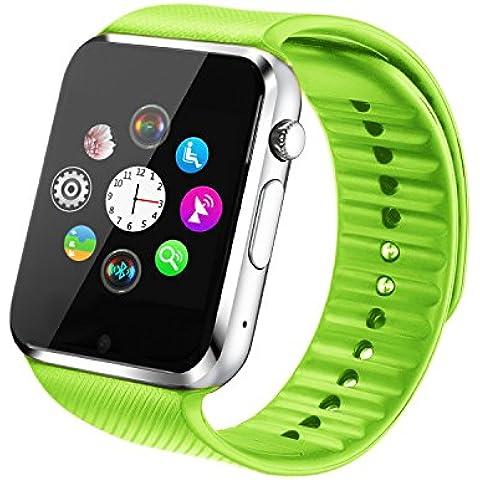 Fantime Smartwatch Relojes Inteligentes Bluetooth Smartwatches Relojes de pulsera(Mensaje ,Cámara, Bluetooth, Sincronizar, Llamada, ) para Android