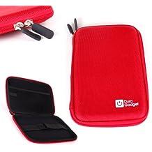 """DURAGADGET Etui rouge rigide de transport pour tablette Boogie Board Tablette 8.5 pouces et MpMan MPDC88, MID84C & MP843 8"""""""