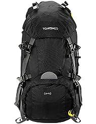 TOMSHOO 45 + 5L Mochila de Senderismo Trekking con Cubierta de Lluvia para Viajes Camping Escalada Montañismo Al Aire Libre