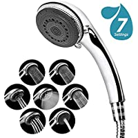Shower Head - 7 Mode Settings Luxury Spa Adjustable Shower Heads with Handheld Spray, High Pressure Shower Head With Hose And Teflon Tape For Bathroom