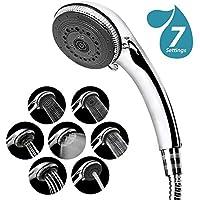 Duschkopf, 7 Strahlarten Hochdruck Wassersparend Handbrause, Handbrause mit Schlauch(1.5M), Luxus Spa Verstellbar Handbrause Duschbrause Universal Dusch Kopf Chrom