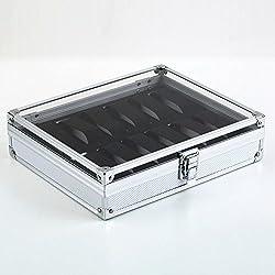 12 Grid Uhrenbox Schmuckkästchen Case Lagerung Organizer Halter Schaufenster Pusheng