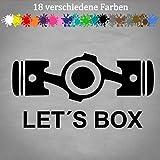 Generic Boxer Motor 20x10cm Let´s Box BMW Car Bike Tuning Aufkleber Bomb JDM OEM Sticker in 18 Farben