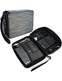 Tuff-Luv Electronique Accessoires Voyage Organizer / Gadget Bag - Gris Bande