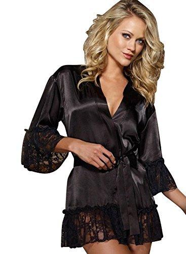 mesdames-sexy-dentelle-noire-et-voir-a-travers-le-tissu-kimono-deshabille-nuisette-peignoir-et-strin