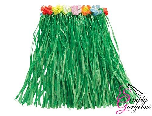 Mädchen Hawaii- Gras- Rock-Blumen- Hula Lei Garland Kostüm - ()