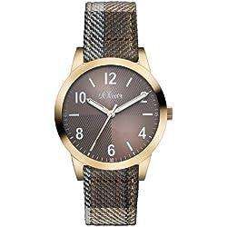 s.Oliver Damen-Armbanduhr Casual XS Analog Quarz verschiedene Materialien SO-2493-LQ