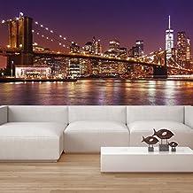 puente de Brooklyn Fotomurales Paisaje urbano de Nueva York murales pared Horizonte Decoración del hogar Disponible en 8 Tamaños Extra pequeño Digital