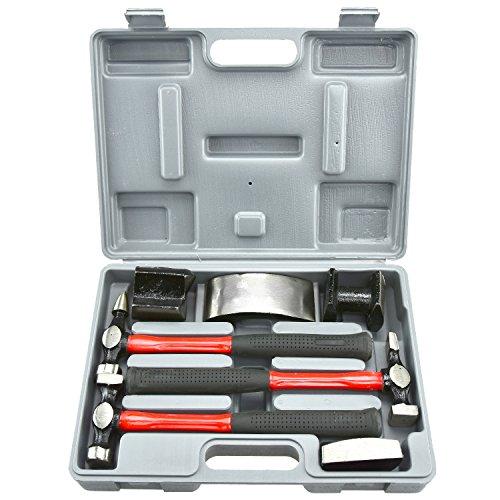 Neiko 20709A Heavy Duty Auto Body Hammer und Dolly Kit, 7Stück (Hammer Dolly)