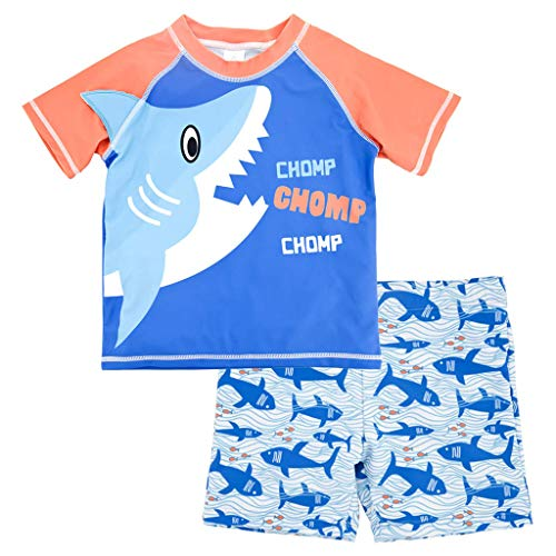 Jungen Bademode Schwimmbekleidung UV-Schutz Bade-Set T-Shirt und Badeshorts 2-8 Jahre