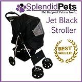 Best Pet Stroller 3 Wheels - Black 4 Wheel Easy Fold Dog Stroller / Review