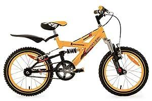 KS Cycling Krazy TC VTT Enfant Jaune 16'' 28 cm