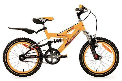 KS-Cycling-Krazy-TC-VTT-Enfant-Jaune-16-28-cm