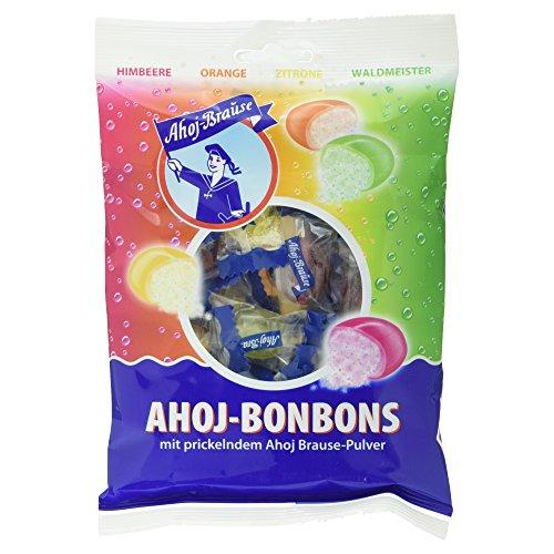 Ahoj-Brause Bonbons mit prickelndem Ahoj Brause-Pulver 4 Sorten, 150 g