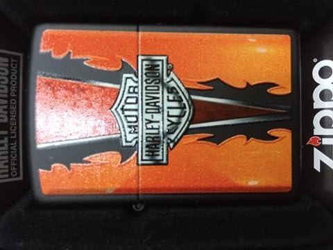 Briquet zippo harley davidson 2.004.283 h-d tribal flames noir mat