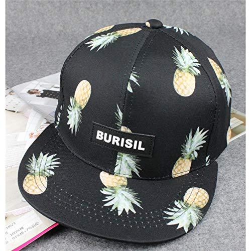 JJHR Baseball caps Fruit Serie Hüte Männer Und Frauen Gedruckt Ananas Flache Baseball-Mütze Serie Flat Panel