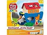 Playtive Junior ARCHE NOAH Holzsteckspiel für Kinder 1-3 Jahre