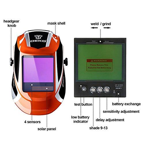 Zoom IMG-3 deko maschera saldatore ad energia