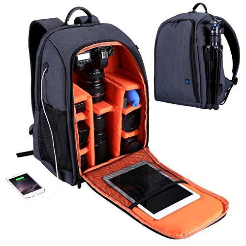 Objektive TOTO 01 Orange Multitasche Atmungsaktiv Stoßfest SLR DSLR Schule Videomaker Fotografie Reflex Professional Notebook Laptop Obtivi ()
