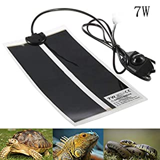 AUOKER Reptile Heat Mats, 7W Adjustable Reptile Heat Pad with Temperature Control for Reptiles Turtle, Tortoise, Snakes, Lizard, Gecko, Spider, Crawler - Safety Aquarium Tortoise Heat Mat Thermostat