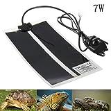 AUOKER Terrarium Heizmatten, Verstellbare 5W/ 7W/ 20W Reptilien Heizkissen mit Temperaturregelung für Reptilien Schildkröte, Schlangen, Eidechse, Leoparden Geckos, Spinne - Sicherheit Heizmatten