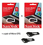 Sandisk Cruzer Blade Pendrive(8GB)+Sandisk pendrive(16GB)+ Pair of micro OTG best price on Amazon @ Rs. 849