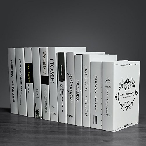 SQBJ Die europäische Version des Nordischen Jingmei Simulation reiner Buch weiß Fake Book modernen dekorativen Bücherregal Clothing Store Requisiten buch Dekoration, [12]