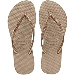 Havaianas Slim, Chanclas para Mujer, Marrón (Rose Gold), 41/42 EU (39/40 Brazilian)