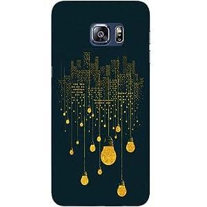 Casotec City Light Pattern Design Hard Back Case Cover for Samsung Galaxy S6 edge Plus