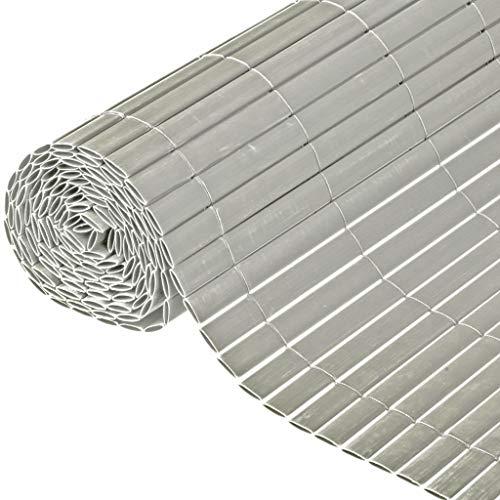 Canisse en PVC gris double face avec fixations H1,2xL3m