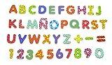 Viga NCT 0650 - Magnetische Buchstaben und Zahlen, 77-teilig, bunt -