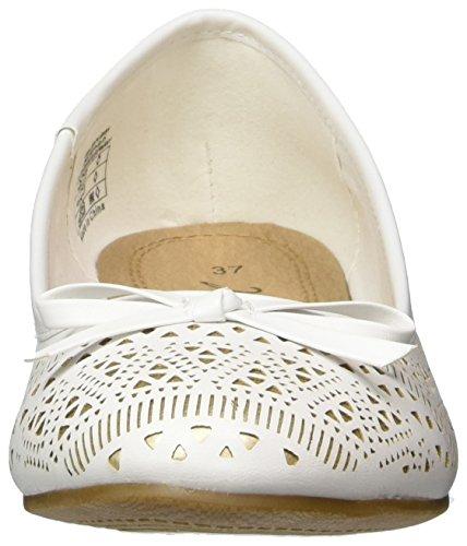 Jane Klain 221 836 Damen Geschlossene Ballerinas Weiß (WHITE)