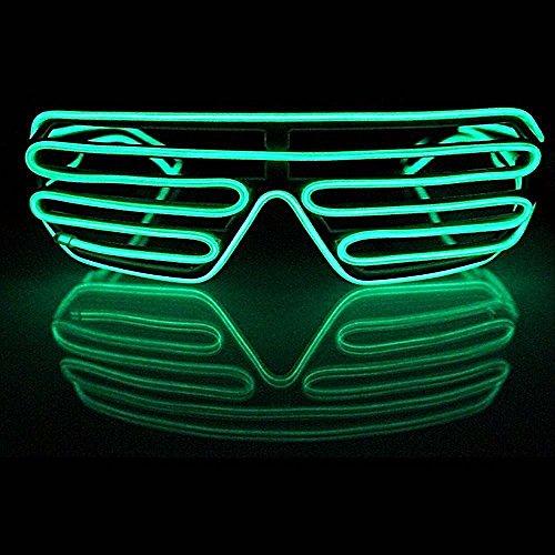 HuntGold Party Nachtclub Cool LED-EL Draht Gläser Helle bis Schlitz Sonnenbrille, blau (Cool El Draht)