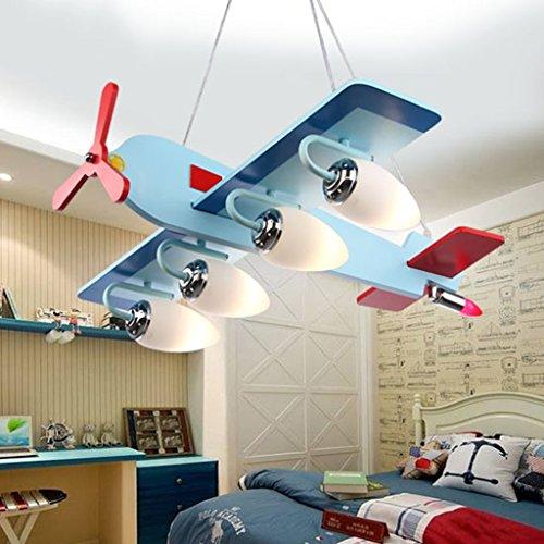 Guo Kinderzimmer-Lichter Jungen-Raum-Flugzeug-Lichter Kronleuchter-Pers5onlichkeit-kreative Lampen E14 Lampen-Hafen