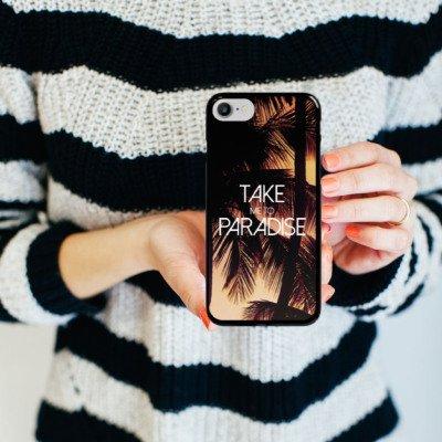 Apple iPhone X Silikon Hülle Case Schutzhülle Palmen Urlaub Sommer Hard Case schwarz