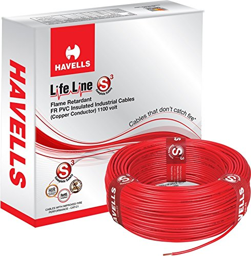 Havells Lifeline Cable 1.5 sq mm wire (Red)