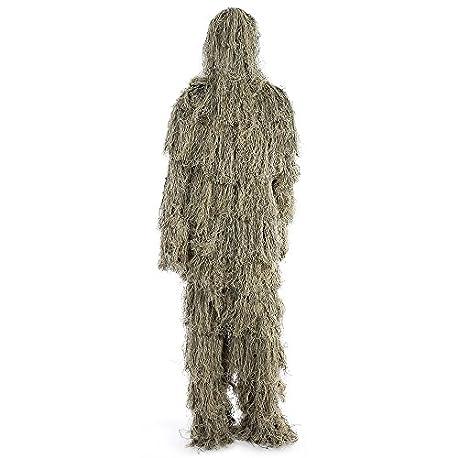 Wenquan Caza del arbolado Sniper Ghillie Suit Set Camuflaje t ctico Ropa Color Camuflaje DE Selva Digital
