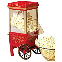 ZeeTeck Vintage Collection Hot Air Popcorn Maker(Red)
