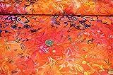 Handgefertigter Batik-Stoff mit Blumenmuster, 100%