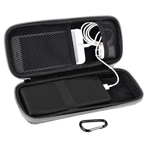 Powerbank Case Hülle Eva Hart Tasche für Anker PowerCore 20100mAh/ 20000mAh 26000mAh/ RAVPower 22000mAh/ 22400 mAh Externer Akku, USB Kable, Kopfhörer von SKYNEW,Hellgrau