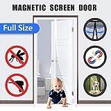 Flei Tenda Zanzariera Magnetica, Zanzariera Porta Finestra Magnetica, Chiuso automaticamente Pieghevole Rete, for...